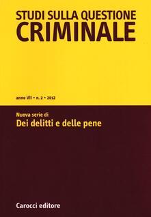 Promoartpalermo.it Studi sulla questione criminale (2012). Vol. 2 Image