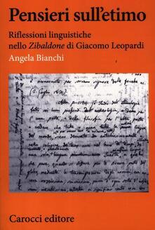 Vitalitart.it Pensieri sull'etimo. Riflessioni linguistiche nello «Zibaldone» di Giacomo Leopardi Image