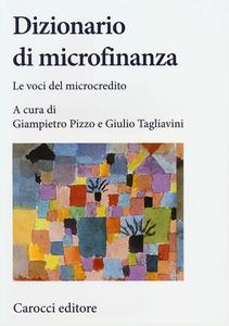 Libro Dizionario di microfinanza. Le voci del microcredito