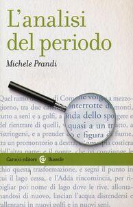 Libro L' analisi del periodo Michele Prandi