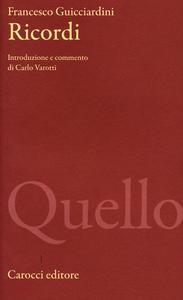 Libro Ricordi Francesco Guicciardini