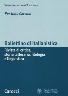 Voluntariadobaleares2014.es Bollettino di italianistica. Rivista di critica, storia letteraria, filologia e linguistica (2013). Vol. 1 Image