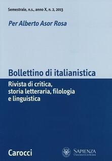 Lpgcsostenible.es Bollettino di italianistica. Rivista di critica, storia letteraria, filologia e linguistica (2013). Vol. 2 Image