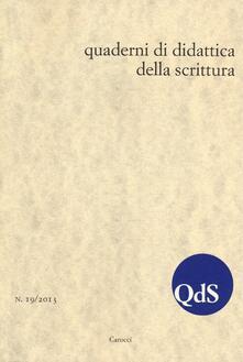 Promoartpalermo.it QdS. Quaderni di didattica della scrittura (2013). Vol. 19 Image
