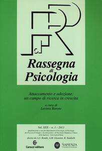 Rassegna di psicologia (2013). Vol. 1