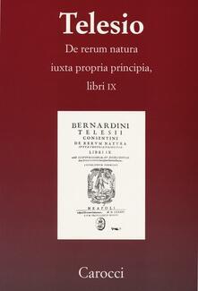 Birrafraitrulli.it De rerum natura iuxta propria principia. Libri IX Image