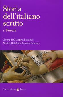Storia dellitaliano scritto. Vol. 1: Poesia..pdf