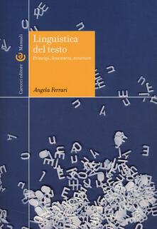 Cocktaillab.it Linguistica del testo. Principi, fenomeni, strutture Image