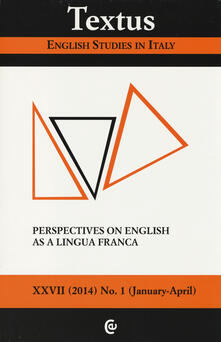 Winniearcher.com Textus. English studies in Italy (2014). Vol. 1: Perspectives on English as lingua franca. Image