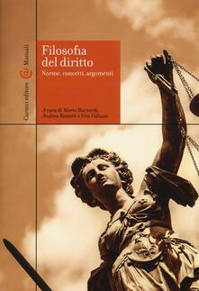 Filosofia del diritto. Norme, concetti, argomenti - copertina