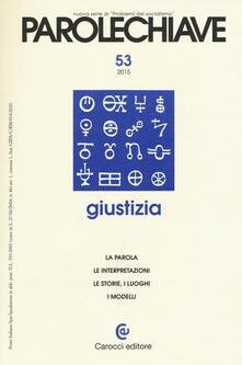 Equilibrifestival.it Parolechiave (2015). Vol. 53: Giustizia. Image
