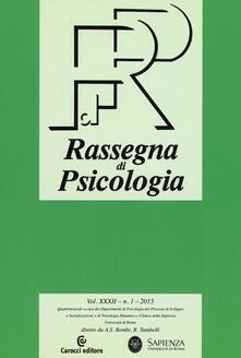 Squillogame.it Rassegna di psicologia (2015). Vol. 1 Image