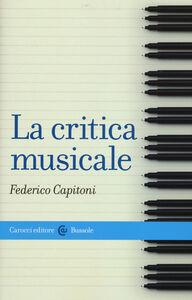 Libro La critica musicale Federico Capitoni