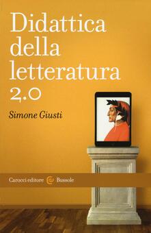 Didattica della letteratura 2.0 - Simone Giusti - copertina