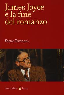 James Joyce e la fine del romanzo -  Enrico Terrinoni - copertina