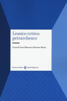 Cefalufilmfestival.it Lessico critico petrarchesco Image