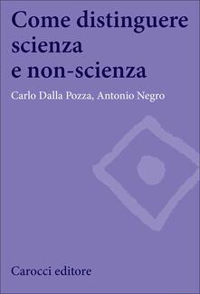 Come distinguere scienza e non-scienza