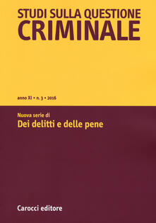 Squillogame.it Studi sulla questione criminale (2016). Vol. 3 Image