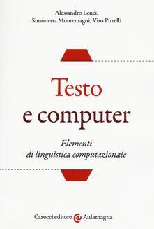 Squillogame.it Testo e computer. Elementi di linguistica computazionale Image
