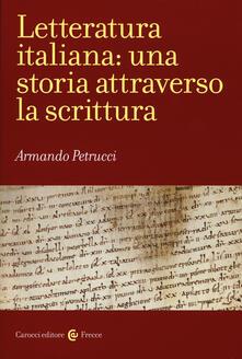 Letteratura italiana: una storia attraverso la scrittura