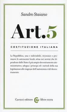 Antondemarirreguera.es Costituzione italiana: articolo 5 Image