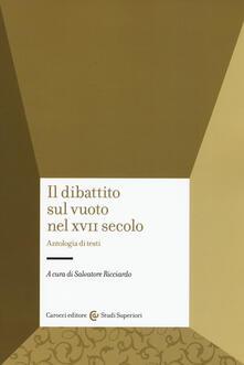 Ristorantezintonio.it Il dibattito sul vuoto nel XVII secolo. Antologia di testi Image