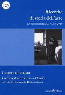 Daddyswing.es Ricerche di storia dell'arte (2018). Vol. 125: Corrispondenze tra Roma e l'Europa dall'età dei Lumi alla Restaurazione. Image