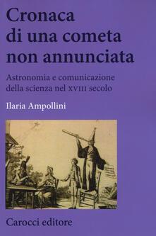 Promoartpalermo.it Cronaca di una cometa non annunciata. Astronomia e comunicazione della scienza nel XVIII secolo Image