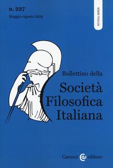 Cefalufilmfestival.it Bollettino della società filosofica italiana. Nuova serie (2019). Vol. 227: Maggio-Agosto. Image