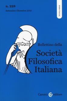 Lpgcsostenible.es Bollettino della società filosofica italiana. Nuova serie (2019). Vol. 228: Settembre-Dicembre. Image