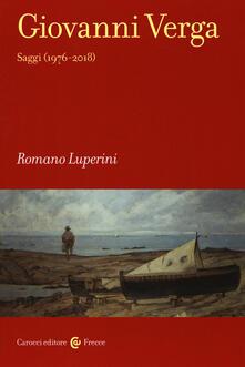 Osteriamondodoroverona.it Giovanni Verga. Saggi (1976-2018) Image