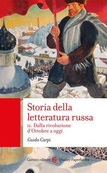 Capturtokyoedition.it Storia della letteratura russa. Vol. 2: Dalla rivoluzione d'Ottobre a oggi. Image