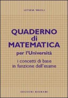 Antondemarirreguera.es Quaderno di matematica per l'università. I concetti di base in funzione dell'esame Image