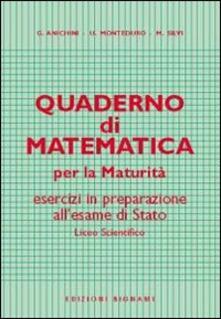 Grandtoureventi.it Quaderno di matematica per la maturità Image