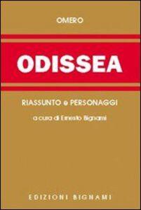 Foto Cover di Odissea. Riassunto e personaggi dell'opera, Libro di Omero, edito da Bignami