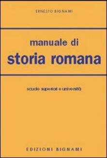 Winniearcher.com Manuale di storia romana. Per le Facoltà di lettere Image