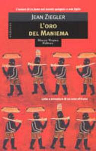 Libro L' oro del Maniema Jean Ziegler