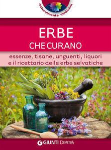 Foto Cover di Erbe che curano. Essenze, tisane, unguenti, liquori e il ricettario delle erbe selvatiche, Libro di  edito da Giunti Demetra