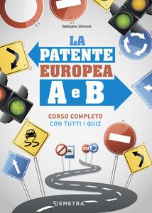 La patente europea A e B - Simone Balduino - copertina