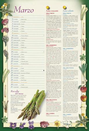 Calendario Lunare Per Imbottigliamento 2020.Calendario Lunare Delle Semine E Dei Lavori 2020 12 Mesi Di