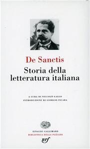 Storia della letteratura italiana - Francesco De Sanctis - copertina