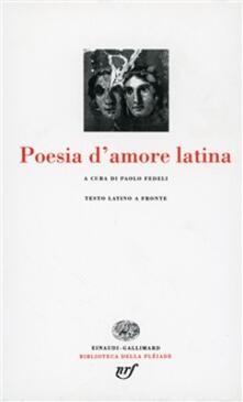 Poesia latina d'amore - copertina