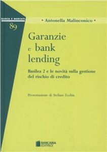 Garanzie e bank lending - Antonella Malinconico - copertina