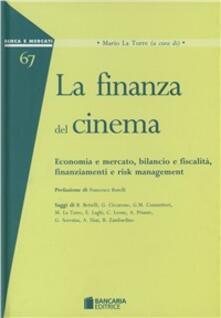 La finanza del cinema - copertina