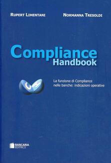 Compliance handbook - Rupert Limentani,Normanna Tresoldi - copertina