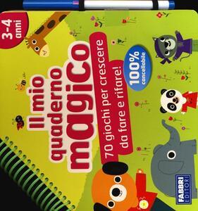 Il mio quaderno magico (3-4 anni). Con gadget - copertina