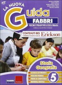 La nuova guida Fabbri. Storia e geografia. Guida per l'insegnante della 5ª classe elementare - copertina
