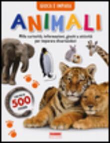 Grandtoureventi.it Animali. Gioca e impara. Con adesivi Image