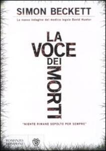 La voce dei morti - Simon Beckett - copertina