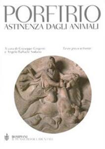 Astinenza dagli animali. Testo greco a fronte